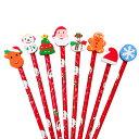 【クリスマス景品】スノーキッズ けしごむ付えんぴつ(24本)《クリスマス xmas イベント 子ども会 子供会 景品…