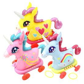 ビニール玩具 お散歩 おさんぽコロコロ ユニコーン ( 税別\200×6個 )幼稚園 祭り 景品 子供会 縁日 ビニールおもちゃ
