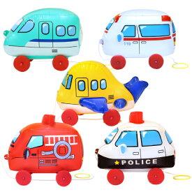 ビニール玩具 おさんぽコロコロ はたらくのりもの(5個入)幼稚園 祭り 景品 子供会 縁日