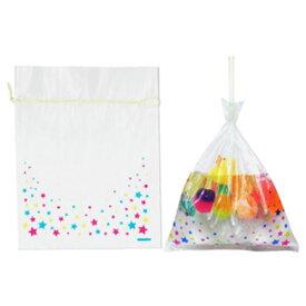 金魚袋 [ 星柄 ] 約100入 幼稚園 祭り ハロウィン 景品 子供会 縁日