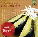 大阪の味をお歳暮で!泉州産水なす漬物【糠漬6個】ギフトに最適な化粧箱入り♪水ナスぬか漬け【水茄子】【漬物】【贈答品】
