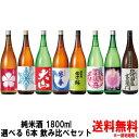 【日本酒 飲み比べセット】純米酒 1800ml 6本 選べる 飲み比べセット8種類の中からお好きな商品をお選び下さい。【送…