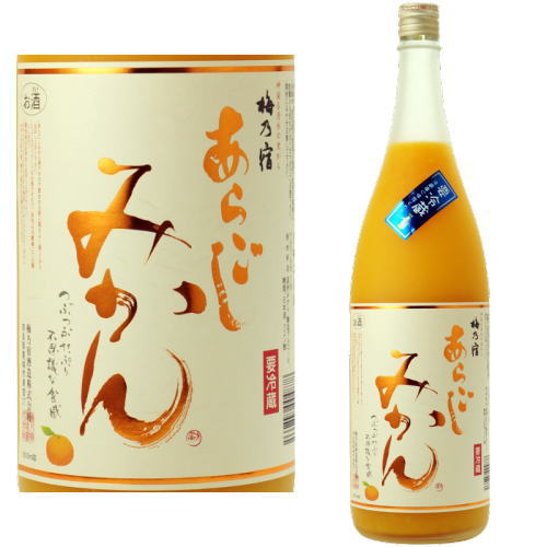 【みかん酒】梅乃宿 あらごしみかん酒 梅乃宿酒造 7度 1800ml