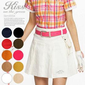 ゴルフウェア レディース スカート ポーチ付きボックスプリーツスカート 定番 無地ゴルフウェア レディース ゴルフスカート インナーパンツ付き 裏地付き 全9色 M/L