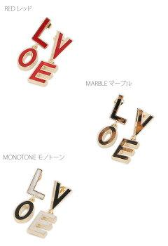 LOVEモチーフピアス
