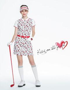 限定キティちゃんコラボ★ぎっしりキティちゃんプリントスカート