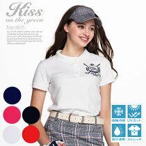 ゴルフモチーフ刺繍ポロシャツ