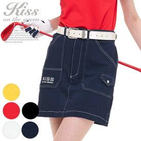 ゴルフウェア レディース スカート 丈長め スカート丈はひざ上5センチ / ステッチ入りスーパーストレッチスカート / インナーパンツ付き 裏地付き / ゴルフ スカート 定番 ポケットも多く多機能な1枚
