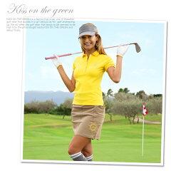 ゴルフウェアレディースポロシャツ春夏おしゃれレディースゴルフ半袖ゴルフポロシャツ大きいサイズレディースゴルフウエアゴルフウェアー無地シンプルトップスカラートップスM〜Lキスオンザグリーン