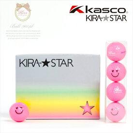 【代引手数料無料】KIRA キスオンザグリーンコラボ オリジナルハートスマイルボール(1ダース) (ゴルフウェア レディース ゴルフウエア)