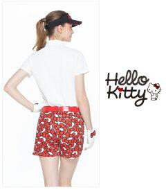 限定HelloKittyコラボ★キティちゃんりぼんプリントショートパンツ
