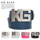【代引手数料&送料無料】KG-ALEX ロゴバックルベルト ゴルフウェア メンズ 全5色 フリーサイズ (ゴルフウェア メンズ …