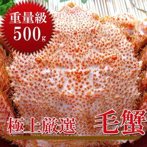 ボイル毛がに約500g【北海道産特大毛蟹】このケガニ安いですが訳ありではありません【冷凍毛ガニ】蟹味噌が最高のカニ三大蟹の1つのけがに