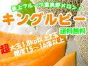 キングルビー【秀品】1.8kg以上×2玉【赤肉ふらのめろん】お中元に希少な幻のふらのメロンを。【富良野メロン】送料無料!※7月上旬頃から順次発送予定