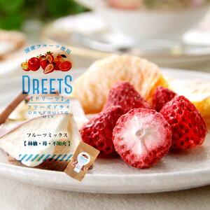 DREETS ドリーツフリーズドライ13g ドライフルーツミックス 国産フルーツ使用【林檎(リンゴ) 苺(イチゴ) 不知火 しらぬい(デコポン)】乾燥果実の詰め合わせです。【りんご いちご でこぽん ど