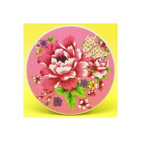 台湾 セラミック吸水コースター 台湾花布柄(ピンク)