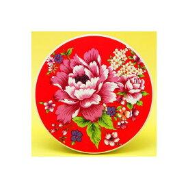 台湾 セラミック吸水コースター 台湾花布柄(赤)
