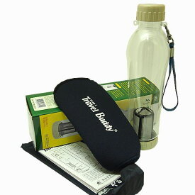 茶こし付きエコボトル保温カバーセット水筒 エコ水筒(マイ水筒)Travel Buddy PC−701保温カバーセット 【サンプル茶葉付き】 台湾