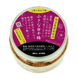 ◆ 無農薬 ◆ 無添加 紀州梅香の上質白干し梅(昔ながらの梅干し・塩梅・白梅干し)500g<小粒>