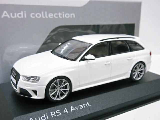 AUDI特注 1/43 アウディ RS4 アバント (アイビスホワイト) 2012