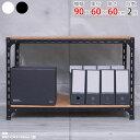 【送料無料】 アングル棚 F1 幅90×奥行60×高さ60cm 2段 ホワイト・ブラック 70kg/段 【スチール棚楽天最安値に挑戦…