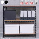 【送料無料】 アングル棚 幅60×奥行60×高さ90cm 3段 ホワイト・ブラック 70kg/段 【スチール棚楽天最安値に挑戦!】…