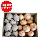 北海道 じゃがいも 送料無料 男爵いも 野菜セット 「送料無料」 北海道産の男爵いも たまねぎ/タマネギをセットにした…