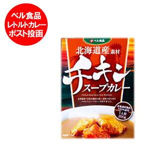 送料無料 チキン スープカレー 北海道 北海道産の鶏肉100%使用 レトルト スープカレー 1人前 200 g 価格 800 円