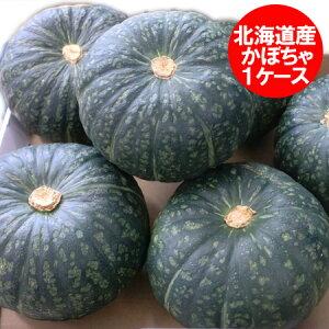 野菜 かぼちゃ 送料無料 北海道産 カボチャ 1箱(4玉から6玉入り) ネット価格 3980円 南瓜は収穫時期により、味平・くりゆたか・えびす・ダークホース・九十九里・みやこ・くりしょうぐんの