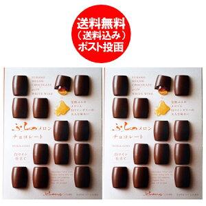 チョコレート ギフト 送料無料 ふらの メロン チョコレート 2個 価格 1946 円 北海道 富良野 ワイン ゼリー ちょこれーと 個包装 会社 職場 友達 ギフト お菓子 手土産 furano