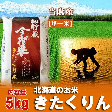 29年産【きたくりん】北海道 米当麻産 籾貯蔵 今摺米 きたくりん 米 内容量:5kg
