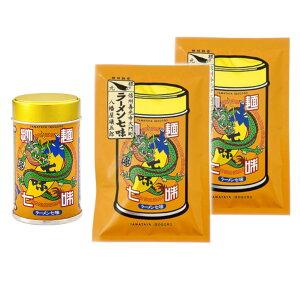 八幡屋礒五郎 拉麺七味(ラーメン七味)1缶・2袋セット 宅急便配送