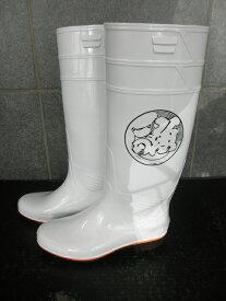 ザクタス耐油長靴Z01(白)日本製 魚河岸1プリント入り
