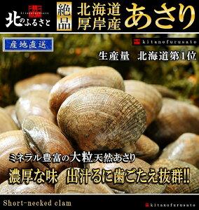 北海道 厚岸産 あさり 特大サイズ 2kg 産地直送 アサリ 貝 かい カイ 国産 魚介 だし 味噌汁 酒蒸し クラムチャウダー 生 冷凍保存