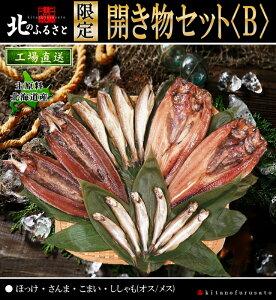 北のふるさと 北海道産 限定 開き物 セット B 全4品 産地直送 干し物 魚 干物 ギフト 贈答品 贈り物 サンマ こまい ほっけ ししゃも お魚