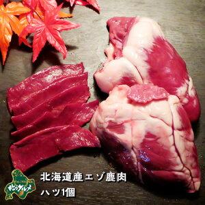 ※9月18日以降順次発送※ 【北海道産】エゾシカ肉/鹿肉/シカ肉/ジビエ ハツ 1個【無添加】 生肉