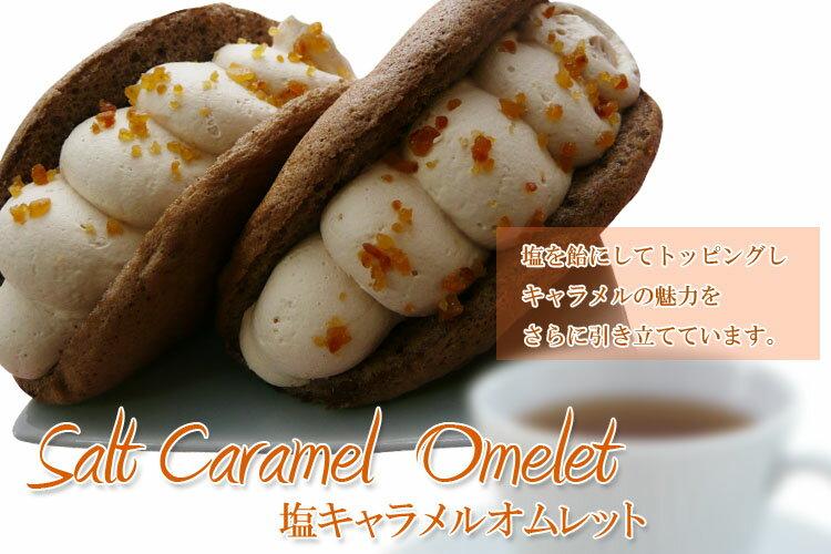 【ネット限定販売 】飴状の塩とキャラメルの最高の相性塩キャラメルオムレット 洋菓子 6個入り