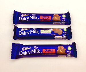 キャドバリー「フルーツ&ナッツ」2個と「デイリーミルク」1個の合計3個セット【Cadbury、Cadbury Dairy Milk、輸入チョコレート、輸入ミルクチョコレート、送料無料、オーストラリアのチョコレ