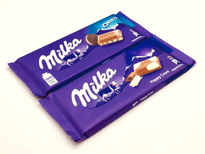 ミルカチョコレート ミルカハッピーカウとオレオの2個SET(送料込)【輸入チョコレート、ドイツのチョコレート、送料無料】