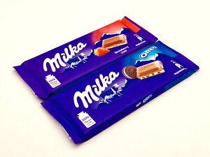 ミルカチョコレート ミルカオレオとストロベリーの2個SET(送料込)【輸入チョコレート、ドイツのチョコレート、送料無料】