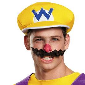 スーパーマリオ ワリオ 大人用 帽子&手袋&ひげ 仮装 3点セット コスプレ ゲーミング ゲーマー マリカー マリオカート