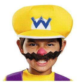 スーパーマリオ ワリオ 子供用 帽子&手袋&ひげ 仮装 3点セット コスプレ ゲーミング ゲーマー