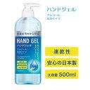 【4月上旬入荷 予約販売】ハンドジェル アルコール 大容量 500mL 日本製 除菌ジェル ウイルス除去 除菌 ウイルス対策 …