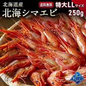 シマエビ 北海道産 北海シマエビ特大250g 目安10尾前後 新鮮な素材の甘みと塩加減にこだわった極上逸品!シマエビ 海老 しまえび