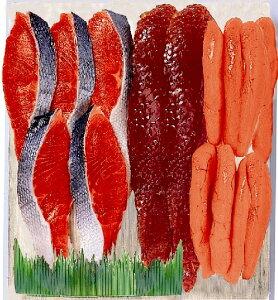 【ギフト】紅鮭・筋子・たら子 大《H》発送まで1週間ほどご予定願います(dk-2 dk-3)