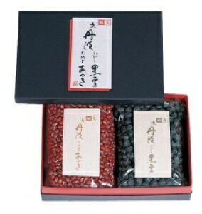【乾物豆/進物用】京丹波ぶどう黒豆300gと京丹波大納言あづき300g