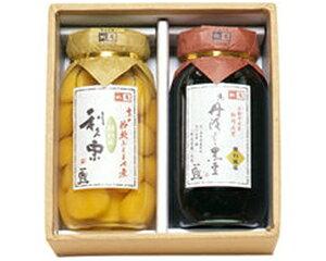 大瓶2種入黒豆の煮豆と栗の甘露煮のセット【楽ギフ_包装】