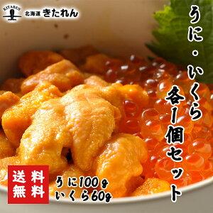 うに・いくらセット 生うに100g いくら醤油漬け60g 塩水うに いくら 北海道 イクラ 卵 ギフト 魚卵 海鮮丼