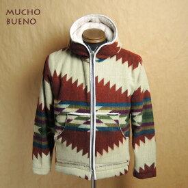 MUCHO BUENO ムーチョブエノ エクアドル ブランケット 裏ボア フードジャケット メンズ レディース 兼用 MUCH-6340