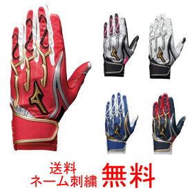 【ネーム刺繍無料】ミズノプロ(mizuno pro) バッティング手袋 シリコンパワーアークMI 両手用 1EJEA131【グローブ/送料無料】